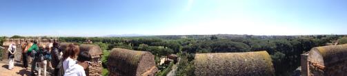 Panoramica dalle mura di Roma sopra Porta San Sebastiano