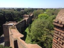 Un tratto delle mura sopra porta San Sebastiano