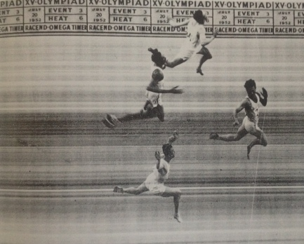 1952 Helsinki Olympic Games first foto finish