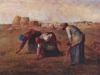 Jean-François Millet, Le spigolatrici, 1857, Paris, Musèe d'Orsay