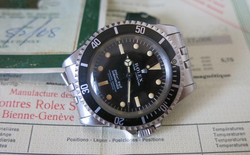 Markets Spots, a wonderful 60's Rolex Submariner5512