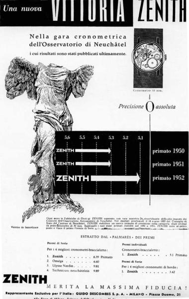 Zenith celebra le 5 vittorie consecutive al Concorso dell'Osservatorio di Neuchâte