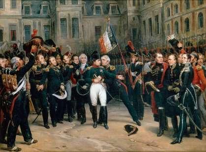 Adieux de Napoléon à la Garde impériale dans la cour du Cheval-Blanc du château de Fontainebleau – 20 April 1814 - Antoine Alphonse - Montfort, Palace of Versailles national museum