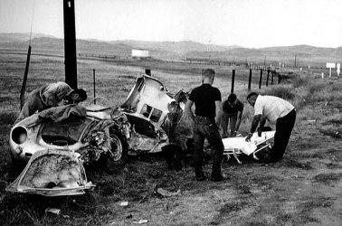 James Dean crash with Porsche 550 Spyder
