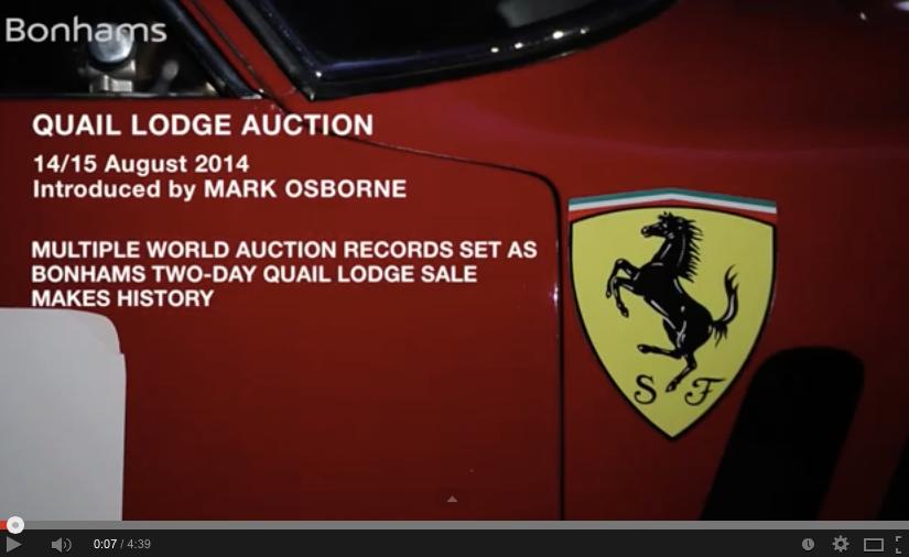 Bonhams Quail Lodge 2014: The 100 million dollarauction