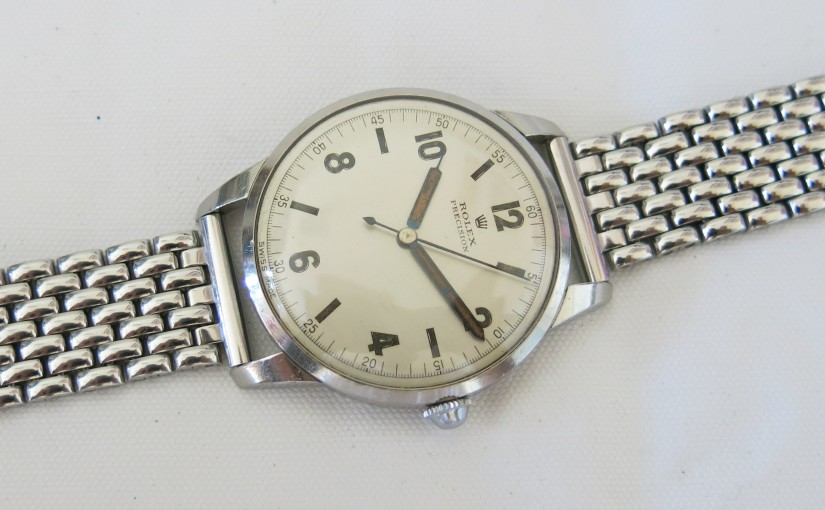 Rolex Ref. 4368 Oversize '40s, pure ArtDeco