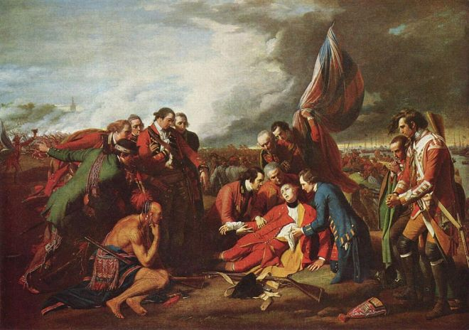 Benjamin West, La morte del generale Wolfe, 1770 - National Gallery of Canada, Ottawa