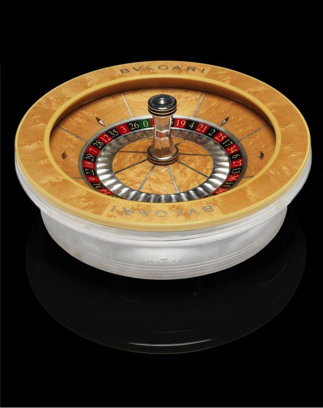 BVLGARI- A silver 'French' roulette wheel