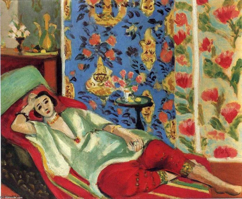 Henri-Matisse-Odalisque-in-red-trousers