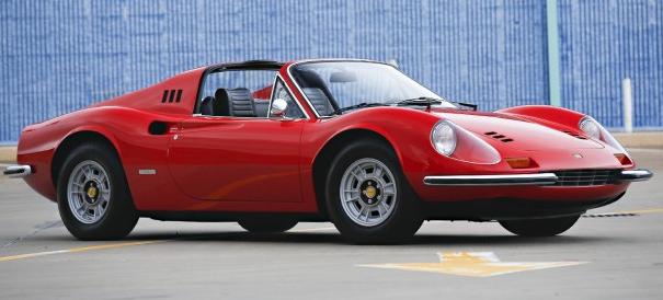 1973 Ferrari Dino 246 GTS $400,000 - $475,000 Coachwork by Scaglietti