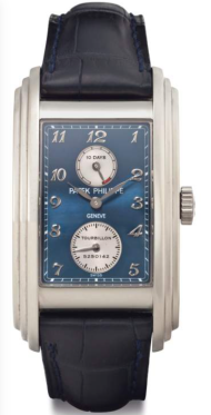 PATEK PHILIPPE, REFERENCE 5101 A Fine and Rare 18k White Gold Rectangular Tourbillon Wristwatch with 10 Day Power Reserve Estimate: $200,000 – $300,000