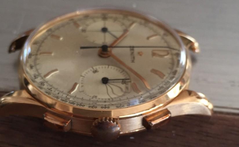 Oredelmondo Christmas gift: Zenith pink gold Chronograph60s