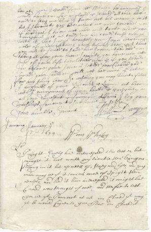 Dampier letter page 1-1