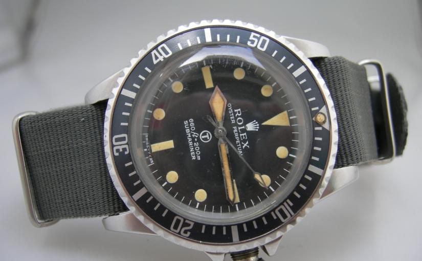A rare and wonderful Royal Navy Military divers Submariner Ref.5513