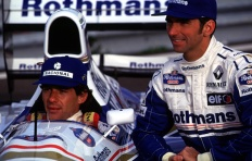 Damon Hill and Ayrton Senna