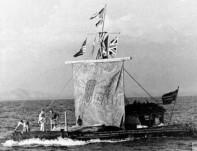 Kon.boat at sea