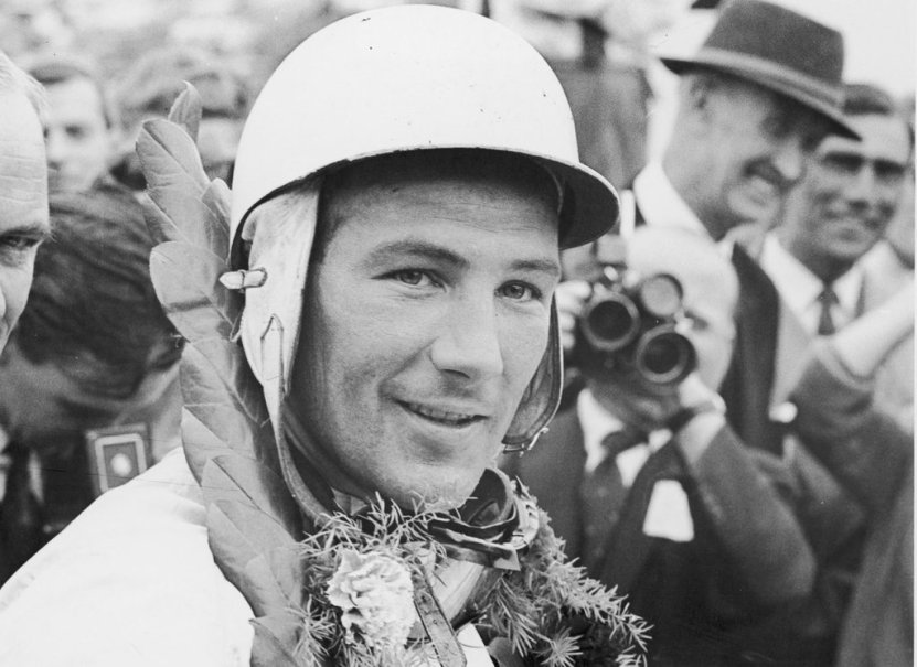 Stirling Moss at British Grand-Prix-1955