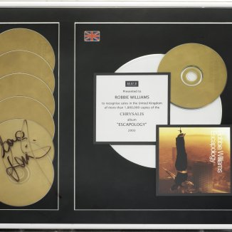 LOT 103- A MULTI-PLATINUM AWARD FOR THE ALBUMESCAPOLOGY,