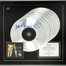 LOT 57- A MULTI-PLATINUM AWARD FOR THE ALBUM I'VE BEEN EXPECTING YOU,