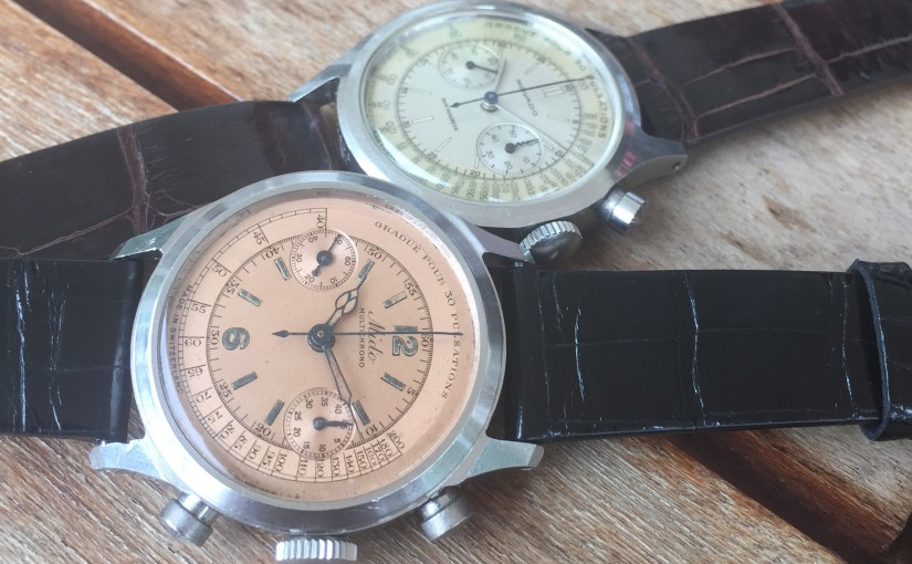 Two wonderful Mido and Movado Medical Chronograph with BorgelCase