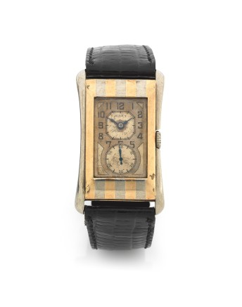 """Donald Healey's two colour 9K gold manual wind Rolex wristwatch, bearing the inscription """"Donald Healey, Perranporth"""""""