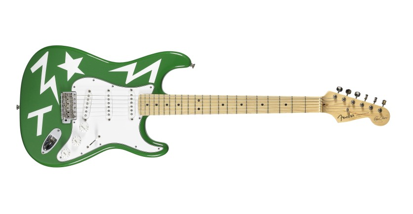 ED SHEERAN - _Green T_ Fender Stratocaster guitar and accompanying canvas print