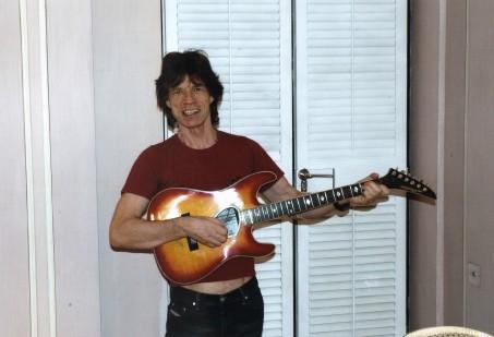 Mick Jagger's Kramer semi-acoustic guitar,
