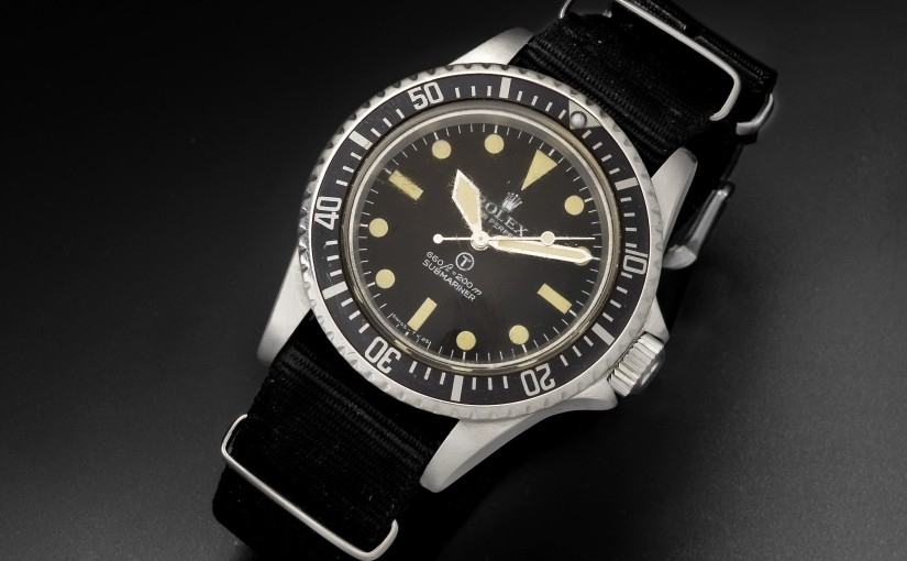 A rare Rolex double reference version of the Military Submariner, issued to the British Navy in the early1970s