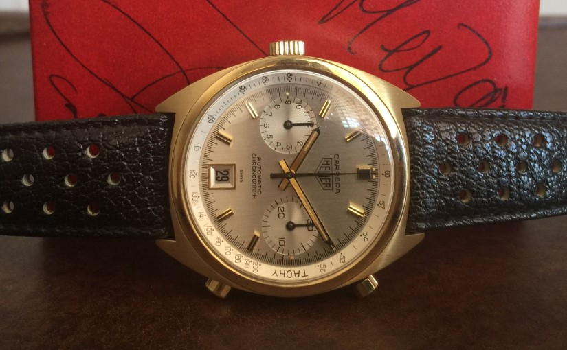The legendary Heuer Carrera 1158 18k for sale on meridianaeshop.com