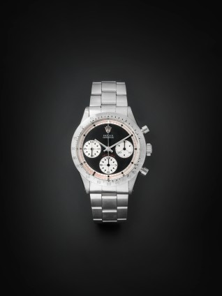 Lot 134 - Rolex. A fine and rare stainless steel chronograph bracelet watch Cosmograph Daytona 'Paul Newman'