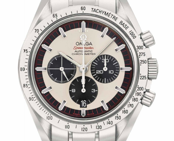 SIGNED OMEGA, SPEEDMASTER, AUTOMATIC, CHRONOMETER, MICHAEL SCHUMACHER LIMITED EDITION, MANUFACTURED IN 2004, Estimate $3.000 - $5.000
