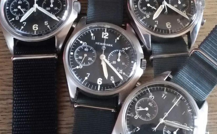 "Shop | For sale the ""Fab Four"" Asymmetrical Military Chronographs Royal AirForce"