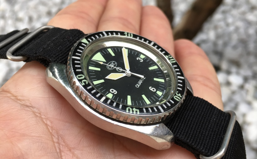 Shop | The CWC Quartz Diver – Royal British Navy watch1983