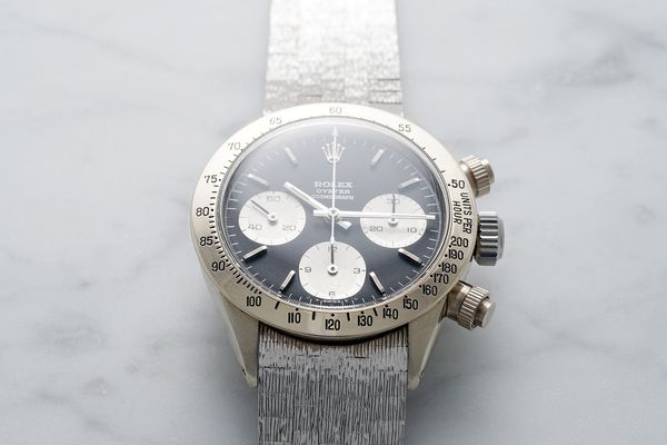 Phillips | The Only Known Vintage White Gold Rolex Daytona Makes Its Auction Debut to Benefit ChildrenAction